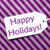 label on purple wrapping paper text happy holidays stock photo © nelosa