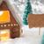 mézeskalács · ház · hópelyhek · copy · space · címke · hirdetés - stock fotó © nelosa