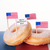 donuts with flags and happy independence day stock photo © nelosa