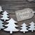 label and christmas trees with thank you stock photo © nelosa