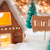 gingerbread house bronze background danke means thank you stock photo © nelosa