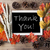 Chalkboard With Autumn Decoration, Thank You stock photo © Nelosa