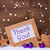 purple christmas decoration text thank you snowflakes stock photo © nelosa