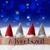 gnomes blue bokeh stars adventszeit means advent season stock photo © nelosa