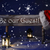 christmas sign candlelight santa hat be our guest stock photo © nelosa