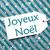 label on turquoise paper snowflakes joyeux noel means merry christmas stock photo © nelosa