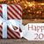 atmospheric christmas gift with label happy 2017 stock photo © nelosa