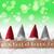 gnomes green background bokeh stars joyeux noel means merry stock photo © nelosa