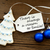 christmas decoration with label with life code on it stock photo © nelosa