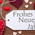 label red hearts flat lay frohes neues means new year stock photo © nelosa