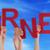 sok · emberek · kezek · tart · piros · szó - stock fotó © nelosa