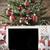 nostálgico · árvore · de · natal · flocos · de · neve · cartão · temporadas - foto stock © nelosa