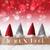 gnomes red background bokeh stars joyeux noel means merry christmas stock photo © nelosa