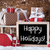 sleigh with gifts snow snowflakes text happy holidays stock photo © nelosa