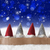 gnomes blue background bokeh stars snowflakes copy space stock photo © nelosa