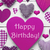 vertical card with purple heart texture happy birthday stock photo © nelosa