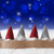 gnomes blue background bokeh stars copy space stock photo © nelosa