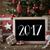nostalgic christmas tree with 2017 snowflakes stock photo © nelosa