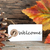 autumn background with welcome label stock photo © nelosa