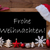 brown blackboard santa hat frohe weihnachten mean christmas stock photo © nelosa