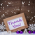 purple christmas decoration snow thank you snowflakes stock photo © nelosa