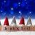 gnomes blue bokeh stars joyeux noel means merry christmas stock photo © nelosa