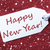 one label on red background snowflakes text happy new year stock photo © nelosa