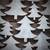 close up of christmas trees on wood with frame stock photo © nelosa
