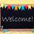 schoolbord · partij · decoratie · tekst · welkom · zoals - stockfoto © nelosa
