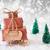 christmas sleigh on white background happy birthday stock photo © nelosa