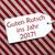 label red paper guten rutsch 2017 means happy new year stock photo © nelosa