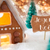 gingerbread house bronze background joyeux noel means merry christmas stock photo © nelosa