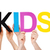 people hands holding colorful straight word kids stock photo © nelosa