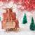 christmas sleigh on red background happy 2017 stock photo © nelosa