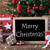 colorful tree with snowflakes text merry christmas stock photo © nelosa