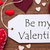 label red hearts flat lay text be my valentine stock photo © nelosa