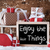 sleigh with gifts snow snowflakes quote enjoy the little thin stock photo © nelosa