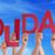 pessoas · mãos · vermelho · palavra · feliz - foto stock © nelosa