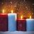 christmas · Rood · sneeuwvlok · kaarsen · bokeh · lichten - stockfoto © nelosa