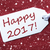 one label on red background snowflakes text happy 2017 stock photo © nelosa