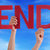 many people hands holding red straight word end blue sky stock photo © nelosa