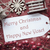 nostálgico · natal · decoração · etiqueta · texto · feliz · ano · novo - foto stock © nelosa