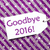 label on purple wrapping paper snowflakes text goodbye 2016 stock photo © nelosa