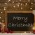 festive card blackboard snowflakes candles merry christmas stock photo © nelosa