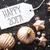 bronze christmas balls snowflakes text happy 2017 stock photo © nelosa