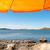 swedish coast with orange parasol stock photo © nelosa