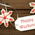 christmas star cookies with happy weekend label stock photo © nelosa