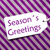 label on purple wrapping paper text seasons greetings stock photo © nelosa