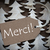 brown christmas label with merci means thank you stock photo © nelosa