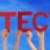 many people hands holding red straight word protection blue sky stock photo © nelosa
